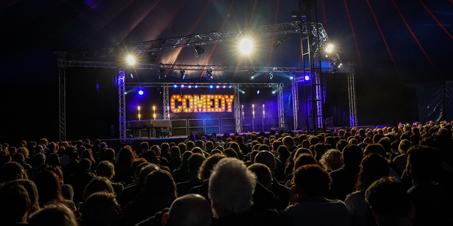 Ealing Comedy Festival tent - picture taken in 2017.