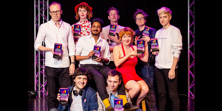 Edinburgh Comedy Awards nominees 2017. Image shows from L to R: Jordan Brookes, Spencer Jones, Elf Lyons, Ahir Shah, John Robins, Mat Ewins, Sophie Willan, Hannah Gadsby, Mae Martin.