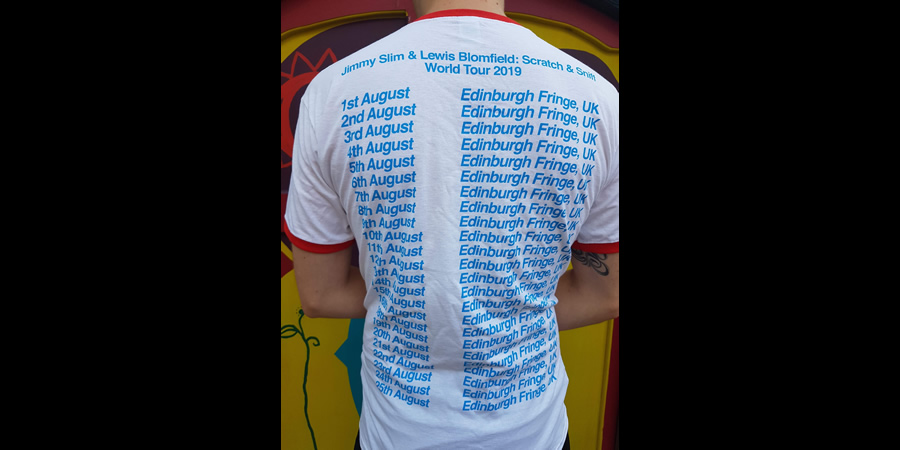 Scratch & Sniff tour t-shirt. Copyright: Sarah Slack.