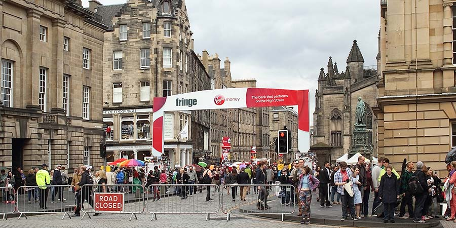 The Royal Mile during the Edinburgh Festival Fringe.