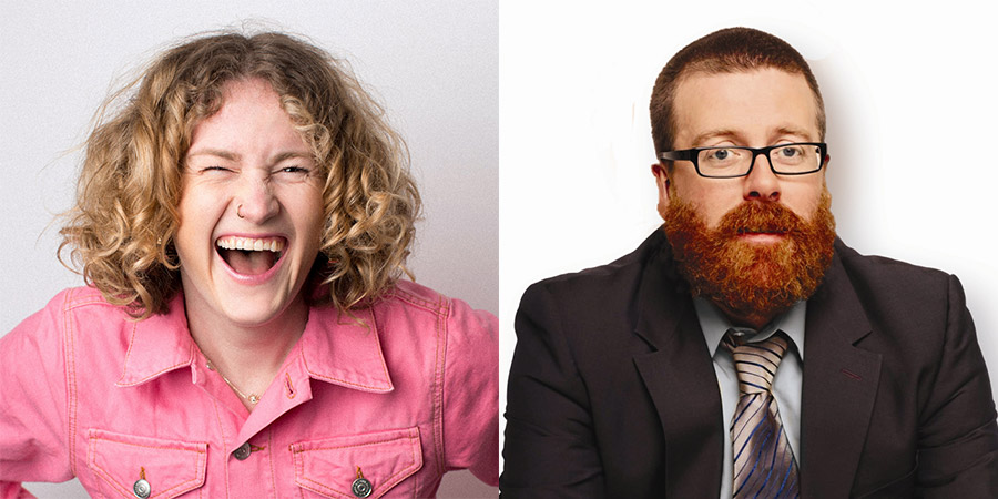 Image shows from L to R: Grace Campbell, Frankie Boyle.