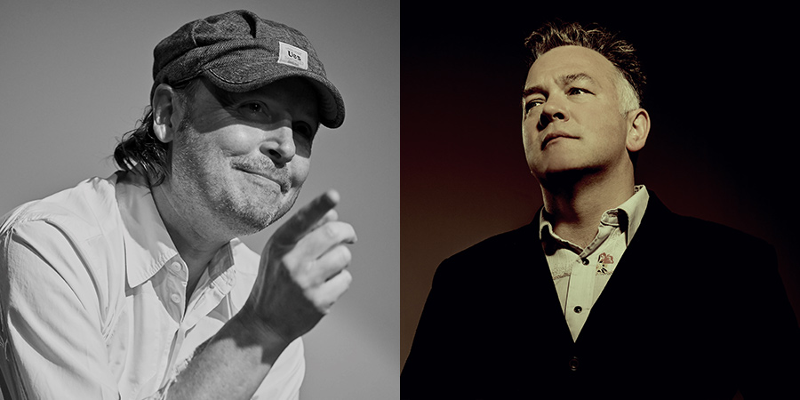 Image shows from L to R: Michael Cumming, Stewart Lee. Copyright: Michael Cumming / Idil Sukan.