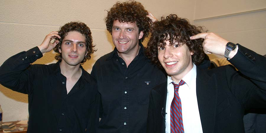 Image shows from L to R: Thomas Nelstrop, Pete Smith, Simon Amstell.