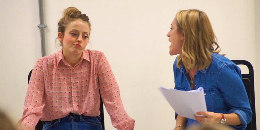 Sitcom Mission 2017. Image shows from L to R: Lucy Farrett, Victoria Blunt. Copyright: Jamie Humphrey.
