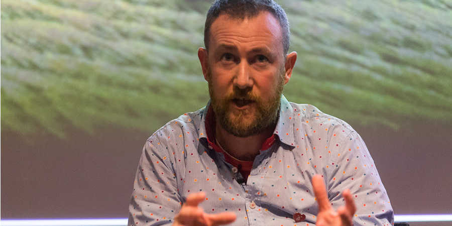 Taskmaster: Get Your Ideas On TV event. Alex Horne. Copyright: RTS / Paul Hampartsoumian.