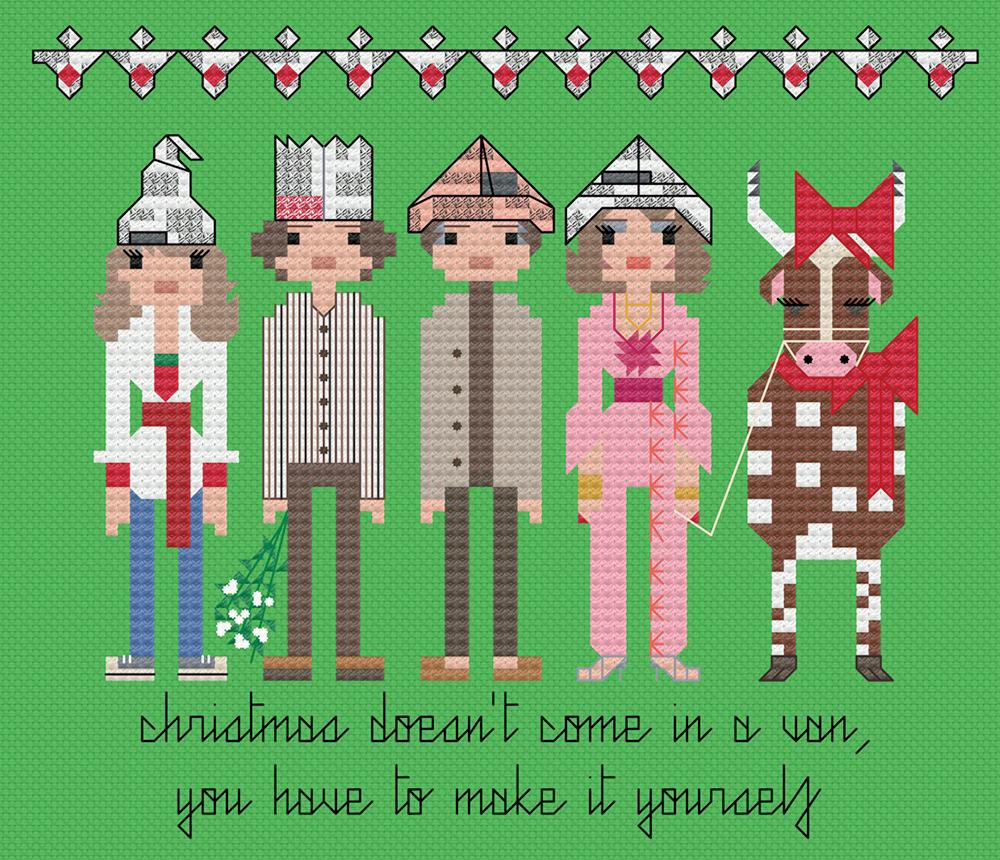 The festive Good Life cross stitch.  Copyright: 8bitnorthxstitch.