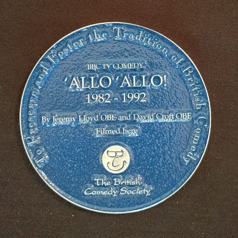 'Allo 'Allo! blue plaque.