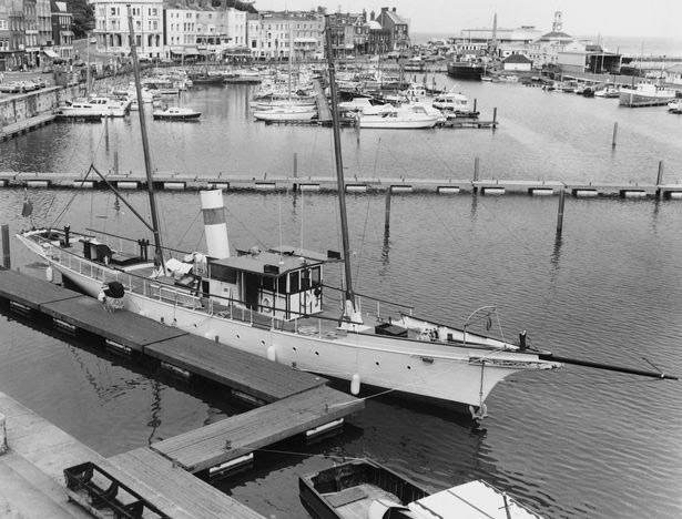 The Amazon, moored at Ramsgate in 1976.