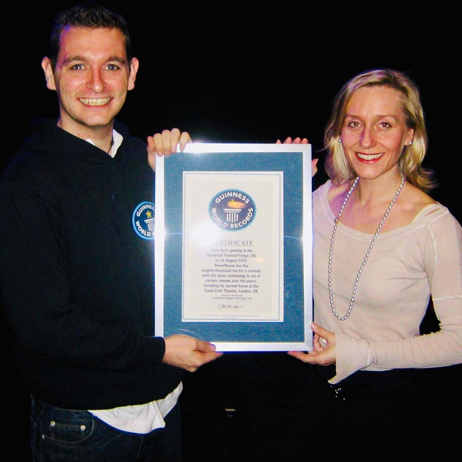 A Guinness World Records official and Emma Taylor.