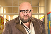 Big School. Mr Barber (Steve Speirs). Copyright: BBC / King Bert Productions.