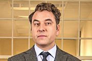 Big School. Mr Church (David Walliams). Copyright: BBC / King Bert Productions.