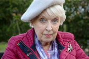 Boomers. Joan (June Whitfield). Copyright: Hat Trick Productions.