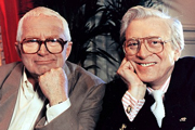 Perry And Croft: Made In Britain. Image shows from L to R: David Croft, Jimmy Perry. Copyright: BBC.