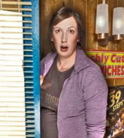 Angelo's. Shelley (Miranda Hart). Copyright: Bwark Productions / Ealing Studios.