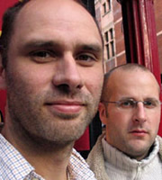 Image shows from L to R: Jesse Armstrong, Sam Bain. Copyright: BBC.