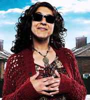 Beautiful People. Aunty Hayley (Meera Syal). Image credit: British Broadcasting Corporation.