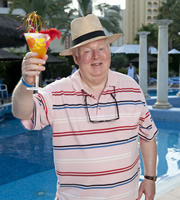 Benidorm. Donald Stewart (Kenny Ireland). Image credit: Tiger Aspect Productions.