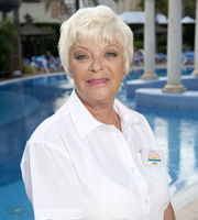 Benidorm. Janey York (Crissy Rock). Image credit: Tiger Aspect Productions.
