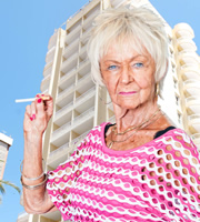 Benidorm. Madge (Sheila Reid). Image credit: Tiger Aspect Productions.