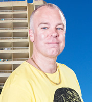 Benidorm. Mick Garvey (Steve Pemberton). Image credit: Tiger Aspect Productions.