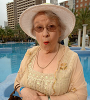 Benidorm. Noreen Maltby (Elsie Kelly). Image credit: Tiger Aspect Productions.