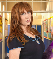 Big School. Miss Postern (Catherine Tate). Copyright: BBC / King Bert Productions.