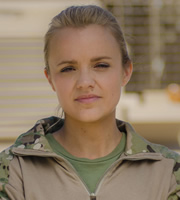 Bluestone 42. Ellen (Laura Aikman). Image credit: British Broadcasting Corporation.
