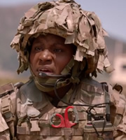 Bluestone 42. Jasmine (Susan Wokoma). Image credit: British Broadcasting Corporation.