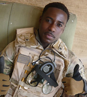 Bluestone 42. Millsy (Gary Carr). Image credit: British Broadcasting Corporation.