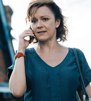 Detectorists. Becky (Rachael Stirling). Copyright: Channel X / Lola Entertainment.