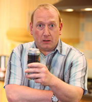 Gavin & Stacey. Pete (Adrian Scarborough). Image credit: Baby Cow Productions.