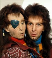 The Hitchhiker's Guide To The Galaxy. Zaphod Beeblebrox (Mark Wing-Davey). Image credit: British Broadcasting Corporation.