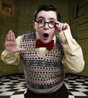 The Ministry Of Curious Stuff. Mr Frazernagle (Jack Carroll). Image credit: British Broadcasting Corporation.