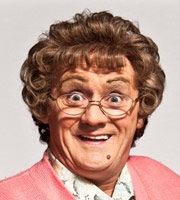 Mrs. Brown's Boys. Agnes Brown (Brendan O'Carroll). Image credit: British Broadcasting Corporation.