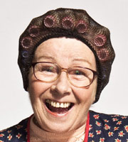 Mrs. Brown's Boys. Winnie McGoogan (Eilish O'Carroll). Image credit: British Broadcasting Corporation.