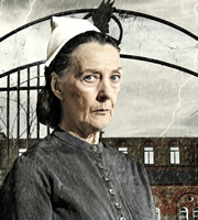 Psychoville. Nurse Kenchington (Eileen Atkins). Copyright: BBC.