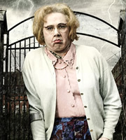 Psychoville. Maureen Sowerbutts (Reece Shearsmith). Copyright: BBC.