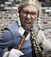 Psychoville. Silent Singer (Reece Shearsmith). Copyright: BBC.