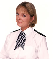The Thin Blue Line. Sergeant Dawkins (Serena Evans). Copyright: Tiger Aspect Productions.