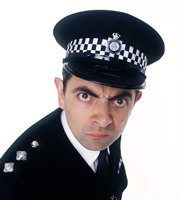 The Thin Blue Line. Inspector Fowler (Rowan Atkinson). Copyright: Tiger Aspect Productions.
