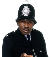 The Thin Blue Line. P.C. Gladstone (Rudolph Walker). Copyright: Tiger Aspect Productions.