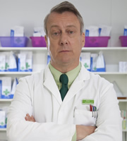 Trollied. Brian (Stephen Tompkinson). Image credit: Roughcut Television.