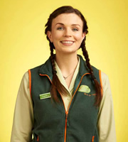 Trollied. Charlie (Aisling Bea). Image credit: Roughcut Television.