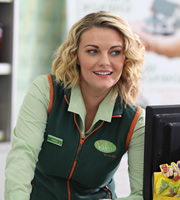 Trollied. Katie (Chanel Cresswell). Image credit: Roughcut Television.