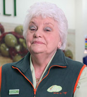 Trollied. Margaret (Rita May). Image credit: Roughcut Television.