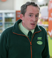 Trollied. Neville (Dominic Coleman). Image credit: Roughcut Television.