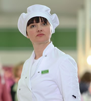 Trollied. Sharon (Josephine Enright). Image credit: Roughcut Television.