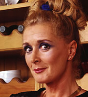 Two Pints Of Lager And A Packet Of Crisps. Flo (Beverley Callard). Copyright: BBC.