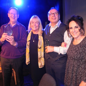 Image shows from L to R: Laurence Marks, Linda Robson, Maurice Gran, Lesley Joseph.