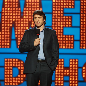 Michael McIntyre's Comedy Roadshow. John Bishop. Copyright: Open Mike Productions.